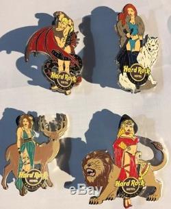 Hard Rock Cafe Hôtel San Diego Game Of Thrones Loup Dragon Lion Stag Pin Set