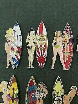 Hard Rock Cafe Hrc 2004 Surfer Girls Ensemble Complet 21 Épingles Le 500 Htf