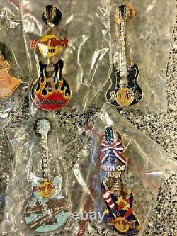 Hard Rock Cafe Hrc Classic Guitars Divers Pittsburgh 14 Pin Lot