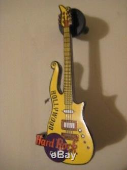 Hard Rock Cafe Hrc Pin Hollywood Nuage Guitar Pin Jaune Rare Prince