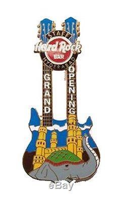 Hard Rock Cafe Hyderabad Bar Ouverture Officielle Staff Épinglette Guitare