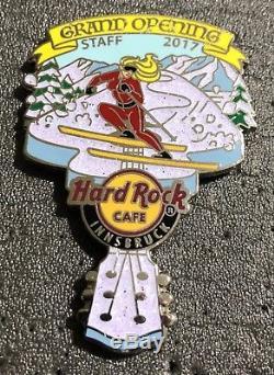 Hard Rock Cafe Innsbruck Grand Élément D'ouverture Édition Limitée Seulement 100 -2017