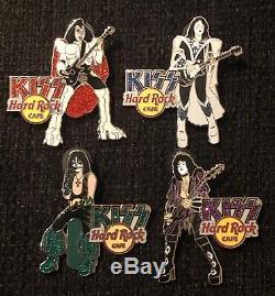Hard Rock Cafe Kiss Pin Dazzle Ensemble Complet Le 200 Gene Ace Peter Paul Dynasty
