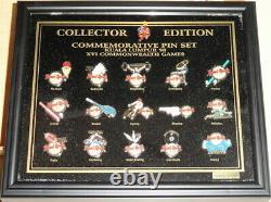 Hard Rock Cafe Kuala Lumpur 1998 XVI Jeux Du Commonwealth Encadré 16 Pin Set #4274
