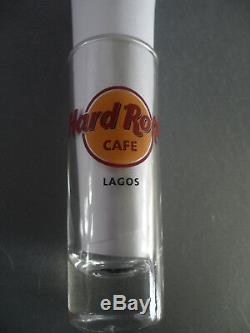 Hard Rock Cafe Lagos Lettre Noire Cordial Ville Logo Verre Verre Verrerie