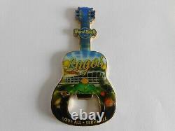 Hard Rock Cafe Lagos Nigeria Sold Out Guitare Avec Logo Magnet Bottle Opener
