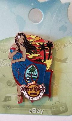 Hard Rock Cafe Landmark Drapeau Fille Série Pin Guam USA 1st Edition, Le100
