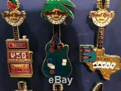 Hard Rock Cafe Las Vegas 2009 Guitare De Jeu Ensemble Complet De 12 Ltd 300 Pcs Hrc