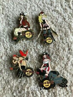 Hard Rock Cafe Las Vegas Pinsanity 2007 Les Broches Pirate Girl & Chip Withearly Pin Oiseaux