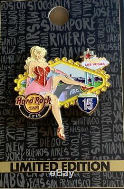 Hard Rock Cafe Las Vegas Strip 2019 Pinsanity # 15 Sexy I-15 Filles 3 Pin Set Nouveau