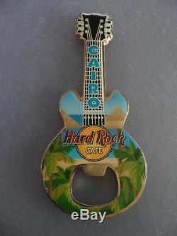 Hard Rock Cafe Le Caire Egypte Palmier Sur La Plage Guitare Aimant Décapsuleur