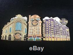 Hard Rock Cafe London Puzzle Set Piccadilly, Original Et Hôtel 3 Épingles Badge
