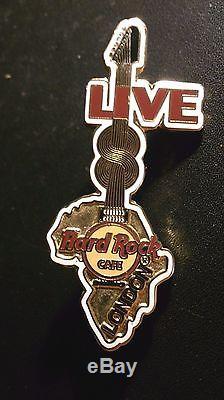 Hard Rock Cafe London Staff Gold Live 8 Afrique Outline Benefit 2005 Pin Rare