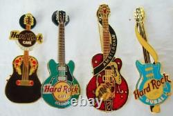 Hard Rock Cafe Lot De 21 Emplacements Mixtes Internationaux Guitar Pins Collection