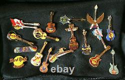 Hard Rock Cafe Lot De 49 Emplacements De Variétés Guitar Pins Collection