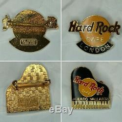 Hard Rock Café Lot De 6 Pins Ultra Rare No Lieu Londres Paris & More