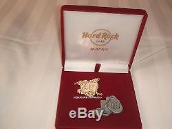 Hard Rock Cafe Macau Grand Ouverture 2 Pins Set Avec Boîte Le777