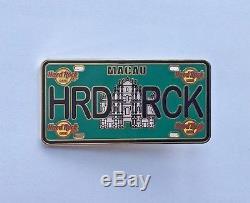 Hard Rock Cafe Macau Plaque De Licence Série Pin Lp 2016 Le100 Partenaire Hong Kong