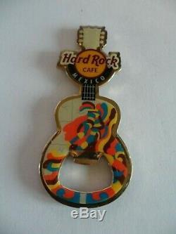Hard Rock Cafe Mexico Guitare Avec Logo Hrc Aimant Décapsuleur