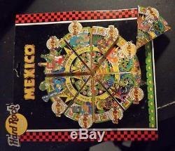 Hard Rock Cafe Mexico Tous Les 8 Cafés Aztec Mayan Puzzle 2005 8 Épingles Complete Set