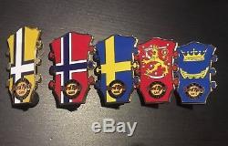 Hard Rock Cafe Oslo, Helsinki, Stockholm, Göteborg Pins
