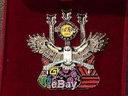 Hard Rock Cafe Panama Grand Opening Pin Box Falcon Winged Guitar Le200