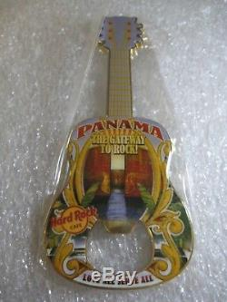 Hard Rock Cafe Panama Guitare Ouvre-bouteille Aimant Rare