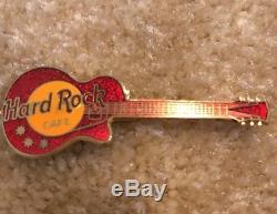 Hard Rock Cafe Pas Nom Fc Parry Rouge Les Paul Guitare Pin Très Rare Vieux Vintage