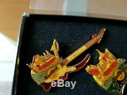 Hard Rock Café Personnel Bangkok 6e Anniversaire Émail 3 Pin Set Super Rare