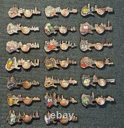 Hard Rock Cafe Pin 3d Guitare Skyline (ensemble 20 Broches)