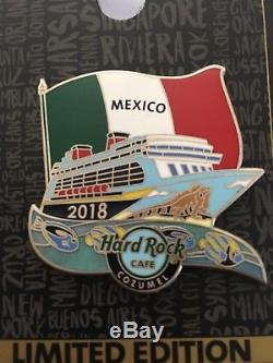 Hard Rock Cafe Pin Cruise 2018 Événement Complet Set Miami Aux Caraïbes