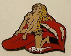 Hard Rock Cafe Pin Femme Nue Rolling Stones Langue XXX Rare Blonde Personnel
