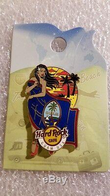 Hard Rock Cafe Pin, Guam, Fille Emblématique Du Drapeau Sexy