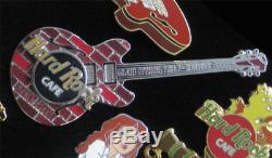 Hard Rock Cafe Pin Guitare Murale Manchester 2000 À Ouverture De Briques # 5278 Rare