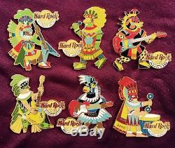Hard Rock Cafe Pin Lot Anciens Guerriers Aztèques Maya Vhtf Série Rare