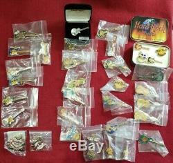 Hard Rock Cafe Pin Lot De 34 Pinheads Rick Nelson Bonhomme De Neige Madrid Beijing Philly