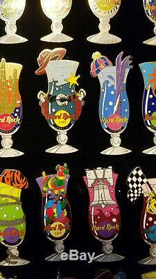 Hard Rock Cafe Pin Série Hurricane De Verres Lots X38 2002-03 Dubaï Guangzhou Rares