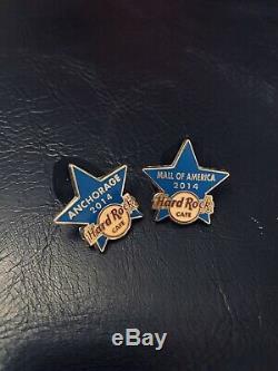 Hard Rock Cafe Pins Épingles De Personnel Blue Star, Personnel De Formation Anchorage & Minnea
