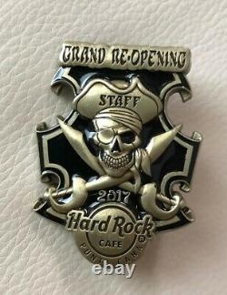 Hard Rock Cafe Punta Cana Grand Opening Staff Pin Le50 Pirate Crâne
