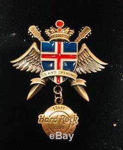 Hard Rock Café Reykjavik Grand Ouverture Staff Broche Etat Neuf Rare
