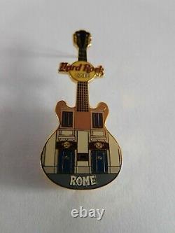 Hard Rock Cafe Rome 2004 Façade Guitare Avant Hrc Building Serie Pin