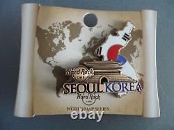 Hard Rock Cafe Séoul Corée Carte Du Monde Pays Forme Drapeau Pin (fermé Café)