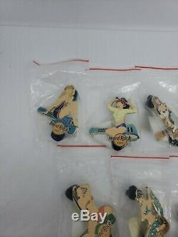 Hard Rock Cafe Série Pin Up Girl 2008 Lot De 9 Épingles Neuf Dans Son Emballage