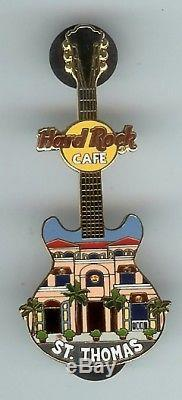 Hard Rock Cafe St Thomas Facade Guitare Broche Rare