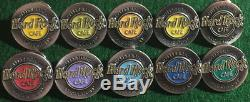 Hard Rock Cafe Stockholm 1990 Happy Birthday Ronde Étain Logos 10 Pin Set