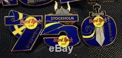 Hard Rock Cafe Stockholm Stockholm 750 2003 Puzzle 12 Épingles Complete Set