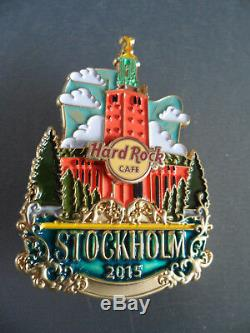 Hard Rock Cafe Stockholm Ville Icône Originale V15 Version Série Pin Sur La Carte