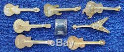 Hard Rock Cafe Stockholm Vintage Guitar Pin Lot Withstaff