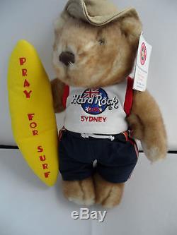 Hard Rock Cafe Sydney Prier Pour Le Surf Herrington Teddy City Ours Jouet Avec Tag