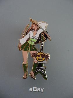 Hard Rock Cafe Tokyo 2007 Japonais Samurai Girl Series Pin (le 100) Rare
